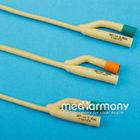 Double balloon two way Latex foley catheter