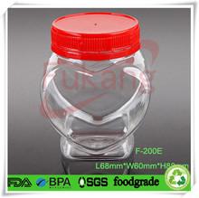 heart shaped plastic bottles ,wholesale pet heart shaped plastic candy bottles