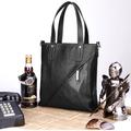 heiße verkauf von produkten echt leder schwarz farbe weichen langen griff handtaschen großhandel new york