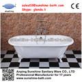Pequeño antiguo clawfoot bañera, de interior bañera caliente venta