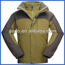 Waterproof mens super warm winter jackets for outdoor wear