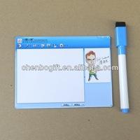 Custom refrigerator door magnetic whiteboard , magnetic writing board for refrigerator , fridge magnet board