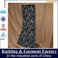 negro de la moda maxi falda larga para las mujeres