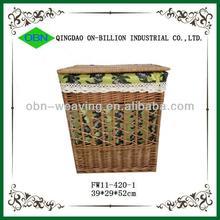 Durable handmade large storage basket with lid