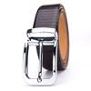 High Quality Black Genuine Leather Steel Pin Buckle Men Waist Belt