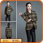2014 New Design Brown Wool Korean Fashion Woman German Winter Jacket