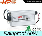 60w 5a constant voltage single output LED switch power supply waterproof led driver dimming led strip light driver 12v