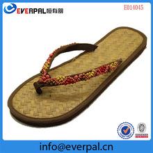women straw bamboo flip flops wholesale