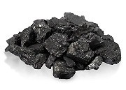 Anthracite coal in containers
