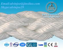 high strength 8 strands polypropylene braided 50mm marine rope
