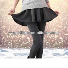 Wholesale Hot Selling High Waist Yoga Pants Korean Hot Girls Fashion Winter Cotton Velvet Thick Warm Ladies Skirts Leggings