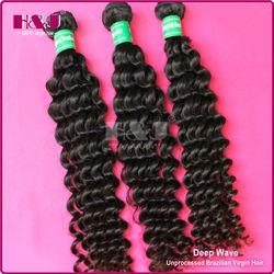 high feedback top grade 6a unprocessed hair deep wave brazilian hair weft
