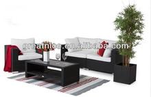 outdoor leisure garden compact wicker/rattan sofa set