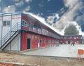de metal de china de bajo costo de casas prefabricadas con ventana de pvc piso de madera contrachapada