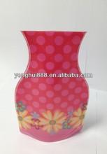 plastic colored vases