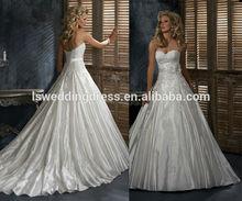 WD0071 taffeta off shoulder lace appliqued whole bodice and sprinkled big ball skirt with waist belt 3D flower wedding dress