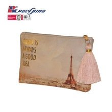 2014 high quality leather cosmetic bag travel used (PK-11143)