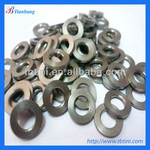 Factory supply high quality and low price DIN125 GR5 6Al4V M5 M6 Titanium Stem Bolt Washers / Diameter same as bolt head