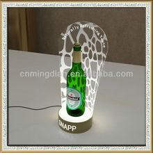 acrylic bottle glorifier display stand/racks, led acrylic beer bottle holder