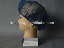 disposable nonwoven bouffant cap dark blue