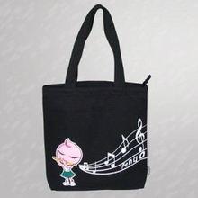 stripe canvas beach tote shopping bag