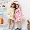 Caliente- la venta vestidos de algodón para las niñas niño en stock el diseño casual niñas vestido de algodón