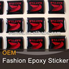 Professional Printing rectangular custom 3d epoxy sticker
