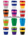 12 onza de comida para llevar tazas de café de plástico hacer una gran regalo promocional