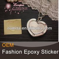 Heart shape epoxy bottle cap stickers