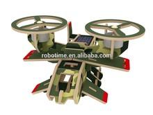 ROBOTIME Solar Powered DIY Wooden Aircraft Toys - Avatar