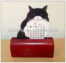 Wooden Craft,Standing Calendar Wooden Base Painting
