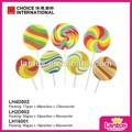 ronda 17g colorido duro tablero de la onda caramelo del lollipop