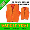 2015 New fashion AS/NZS 4602 1999 Hi visibility Reflective safety vest