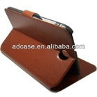 High quality book style PU leather tablet case for ipad