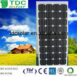 Monocrystalline 100w high output competitive price paneles solares