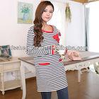 Wholesale navy blue stripe breastfeeding baby dresses maternity dresses maternal dresses AK108