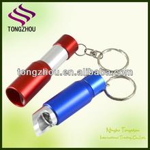 Promotional led keychain light/led bottle opener keychain/led torch Keychain