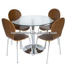 dining table with bent wood chair