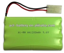 Ni-MH battery 9.6v 1200mah AA nimh rechargeable battery pack