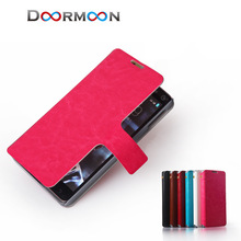 cell phone shop factory price hot selling PU leather phone wallet case for Sony L35H case