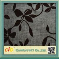 Latest Floral Design Flocked Velvet Fabric For Sofa