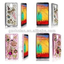 2014 Wholesale Fashion Mobile Rhinestone Phone Case For Samsung Galaxy Note3 N9000 Luxury Diamond Hard Case Cover