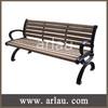 FW32 Cast iron wooden garden bench with backrest