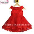 pakistan moda vestire le ragazze 2014 bambina progettista rosso un vestito partito pezzo