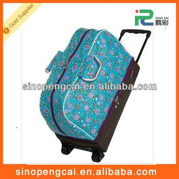 cheap good fashional polyester sports trolley travel bag