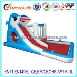 shark inflatable water pool slide