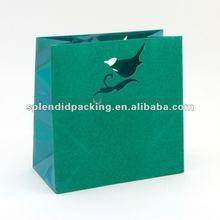 Teal Glitter Bird Gift Bag