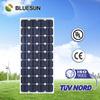 Bluesun brand cheap price 125 silicon cell 100w monocrystalline solar panel