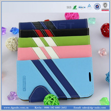 wallet card-slot pu leather cell mobile phone case for samsung galaxy s4