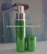 Round heart shape aluminum perfume sprary bottle